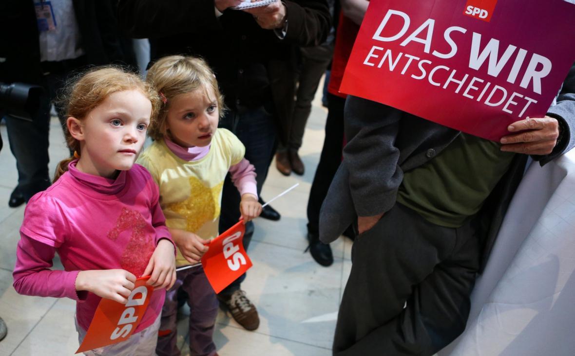 Volební mítink německé SPD