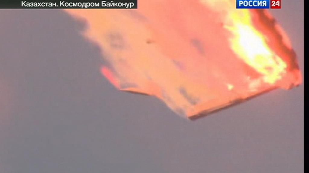 Havárie ruské rakety Proton-M nedaleko kosmodromu Bajkonur