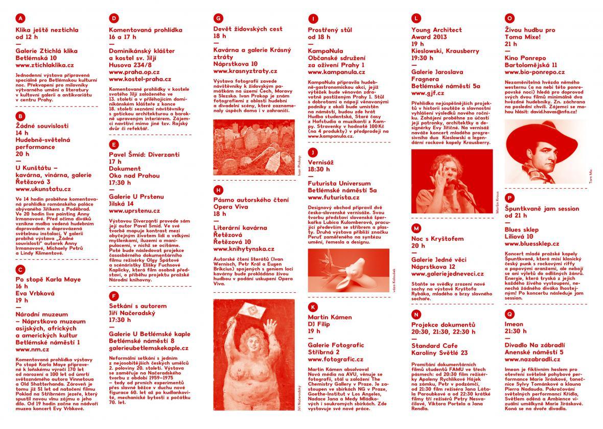 Betlémská kulturní noc 2013 / program
