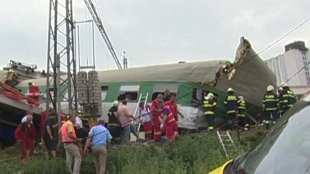 Železniční nehoda ve Studénce