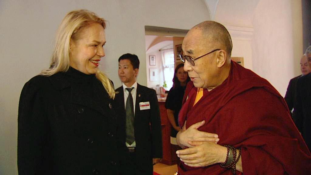 Dagmar Havlová s dalajlamou