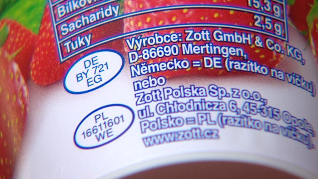 Oválné označení na mléčných výrobcích