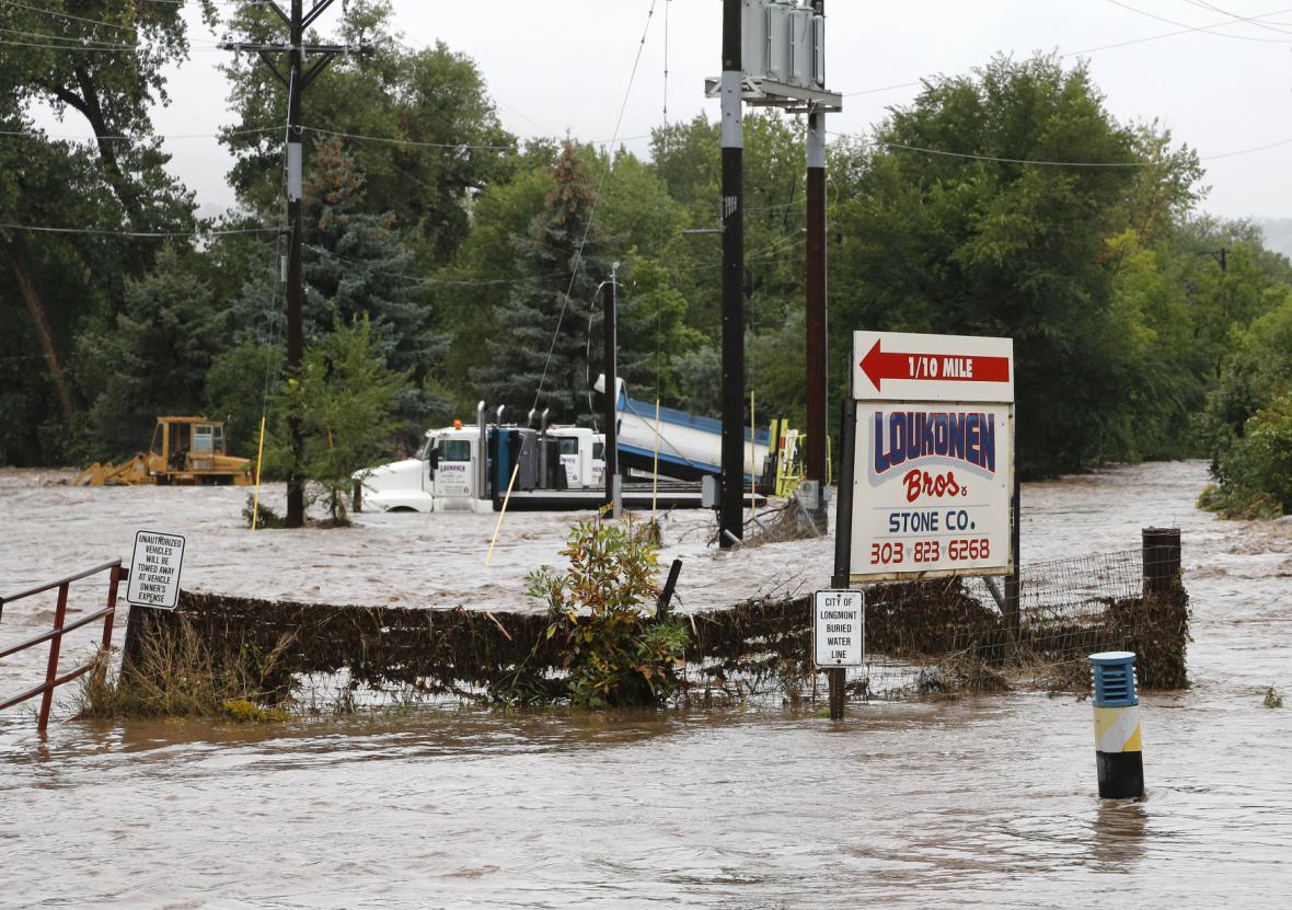 Záplavy v okolí coloradského Boulderu