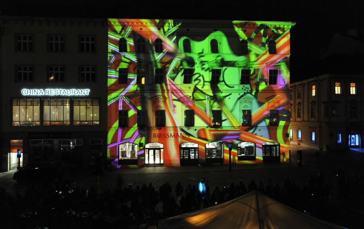 Videomapping na festivalu VZÁŘÍ