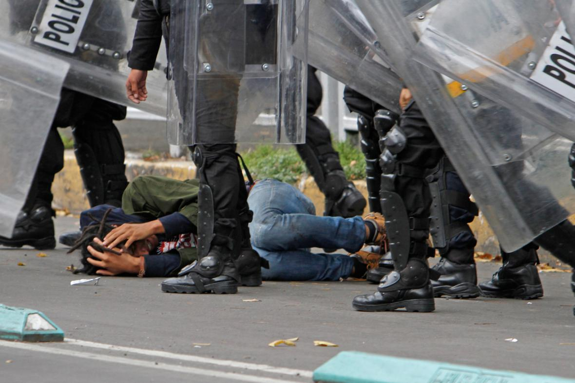 Mexická policie rozehnala demonstraci učitelů