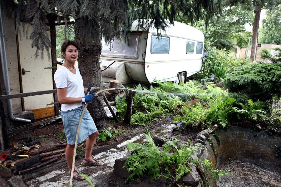 Zahrádkářka na Libeňském ostrově