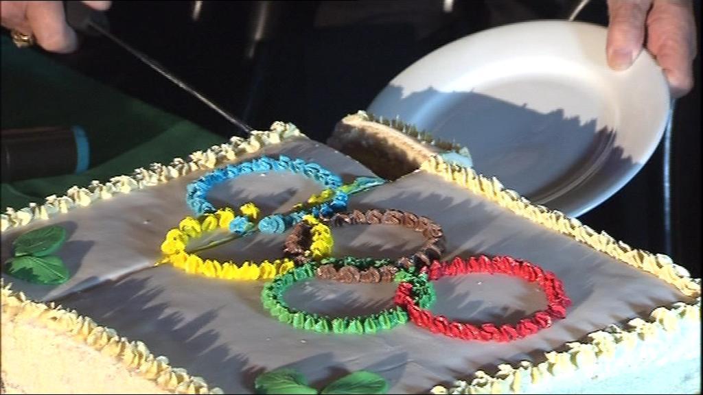 Slavné chvíle připomněl jubilantce i stylový dort