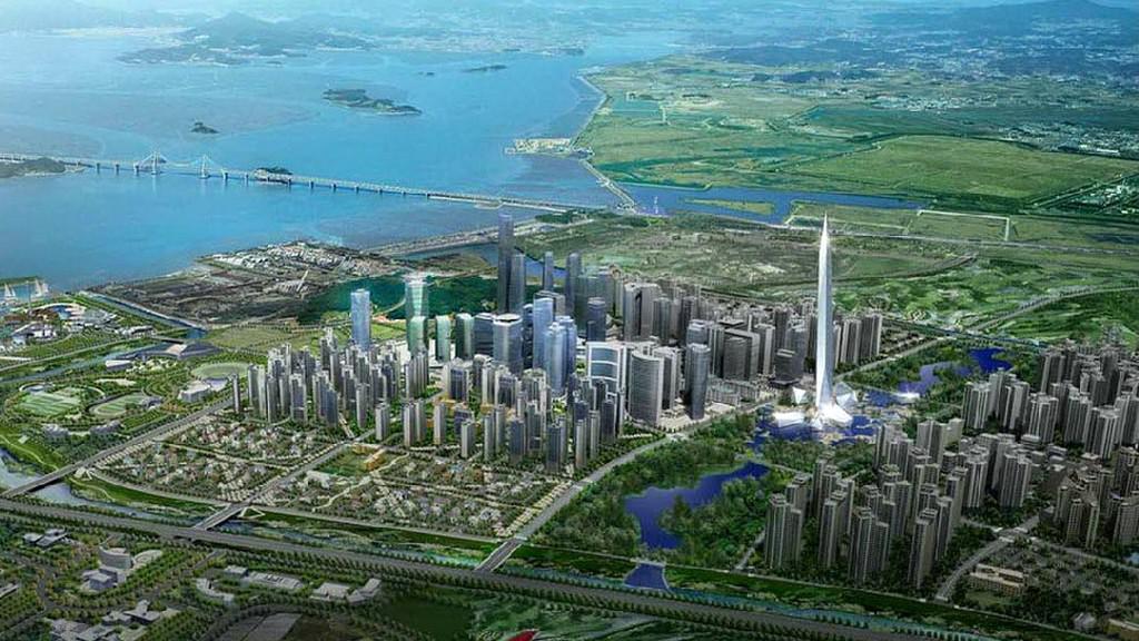 Neviditelný mrakodrap v Soulu