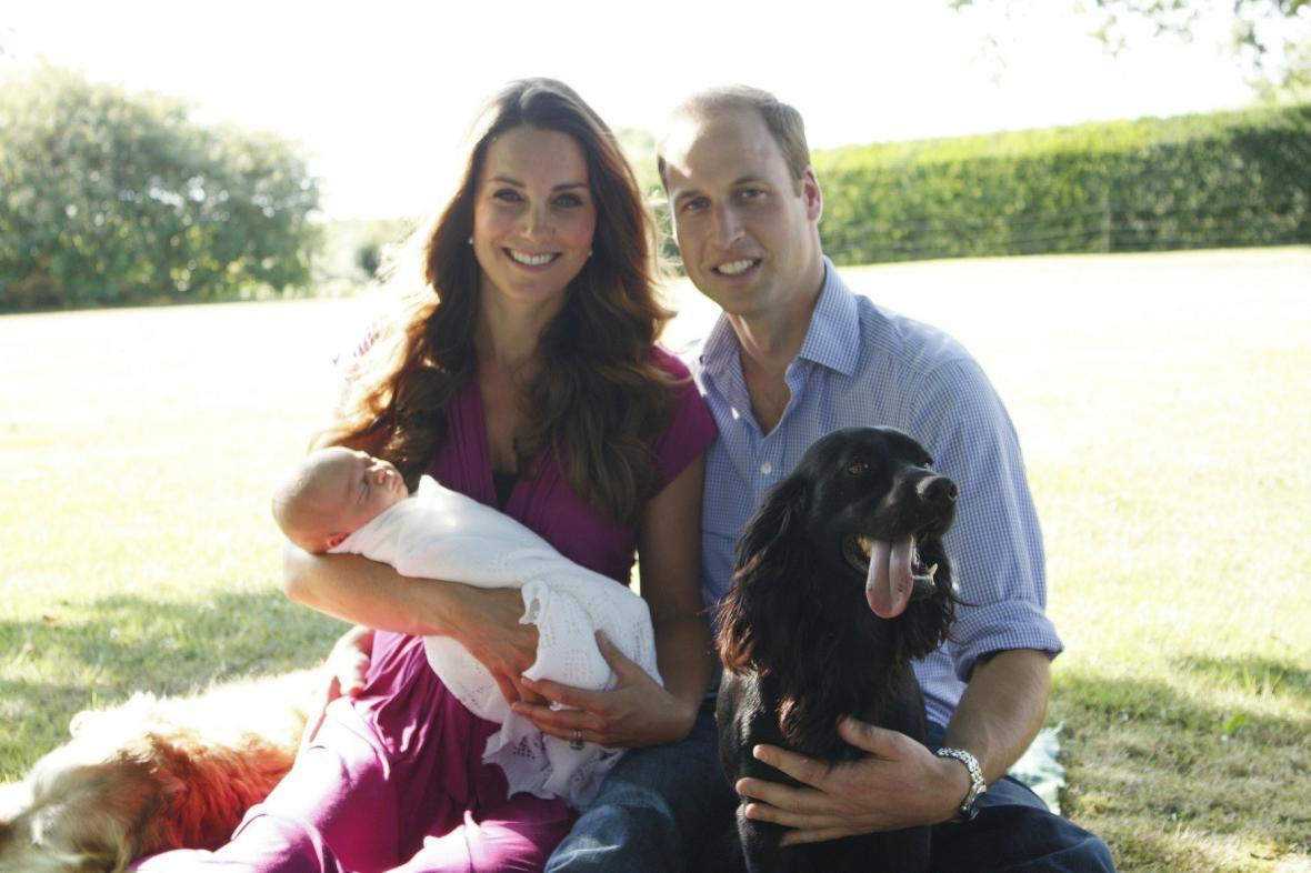 Kate a William s malým Georgem