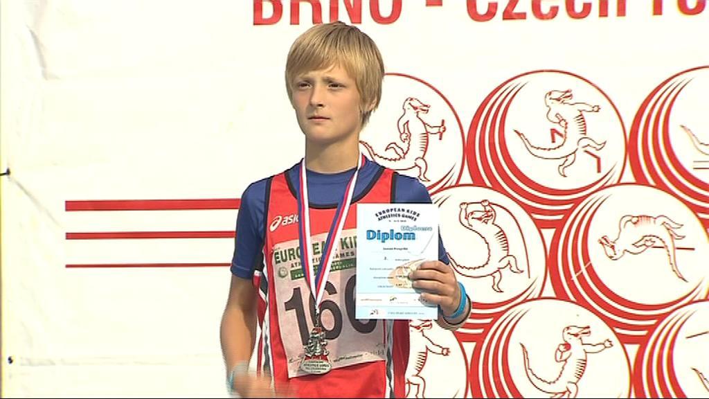 Jonáš Pospíšil získal stříbrnou medaili ve skoku vysokém