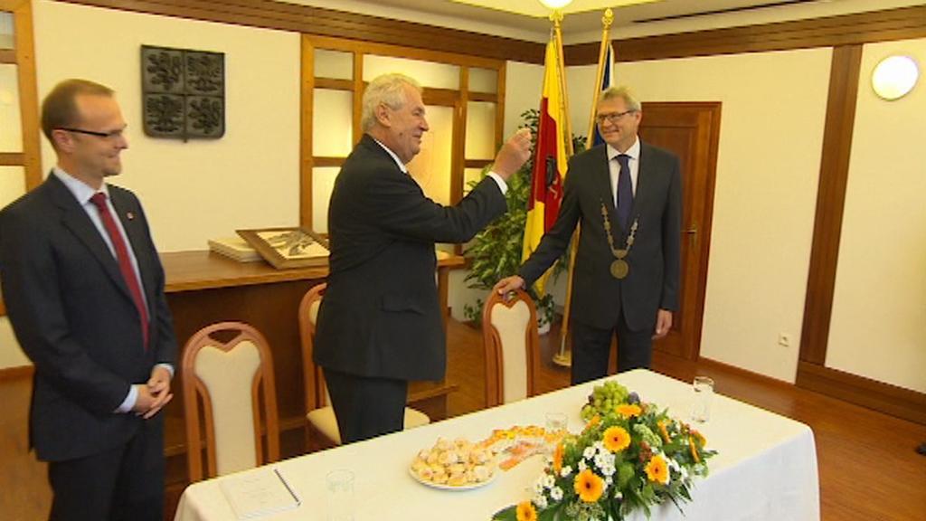 Prezident Miloš Zeman v České Třebové