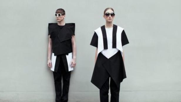 Minimalistická a geometrická móda je unisex