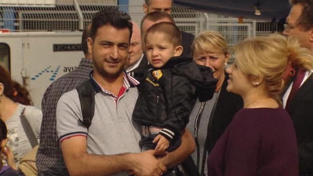 Syrští uprchlíci v Německu
