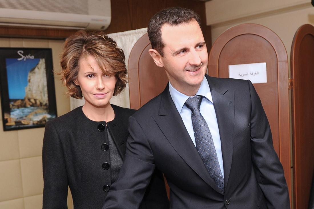 Bašár Asad s manželkou Asmou