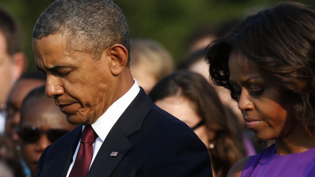 Barack Obama během výročí 11. září