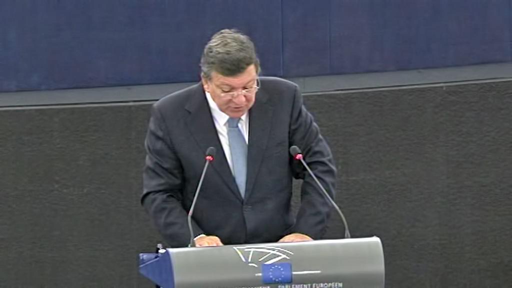 José Manuel Barroso přednesl zprávu o stavu unie