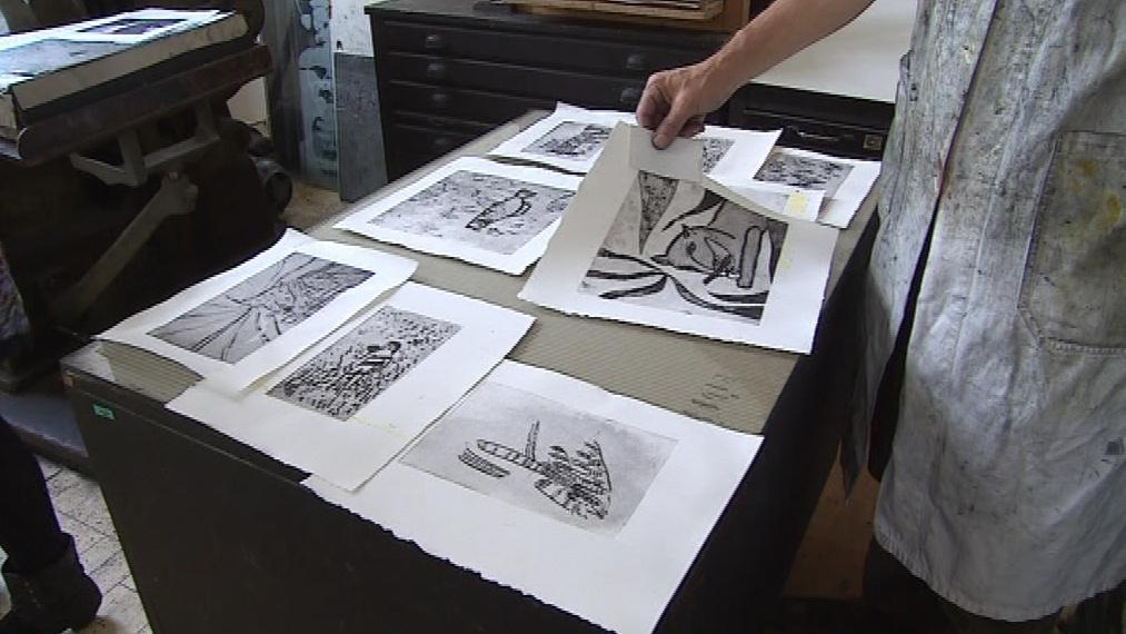 Grafiky jsou určené coby ilustrace do Apollinairovy sbírky