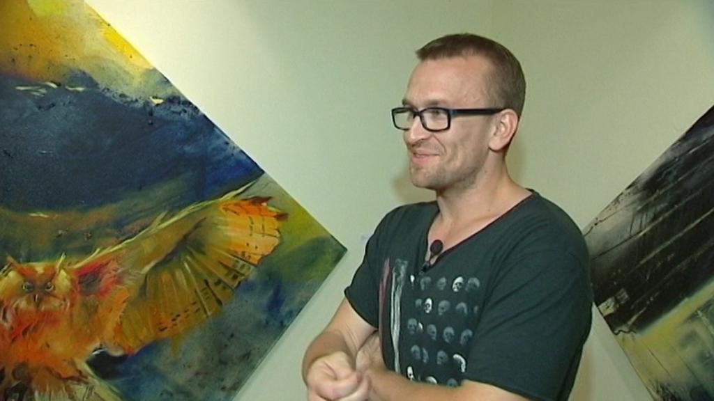 Český výtvarník Martin Salajka