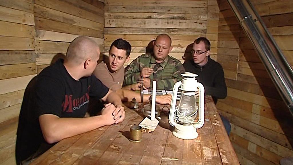 Skupina nadšenců v bunkru B-S 6