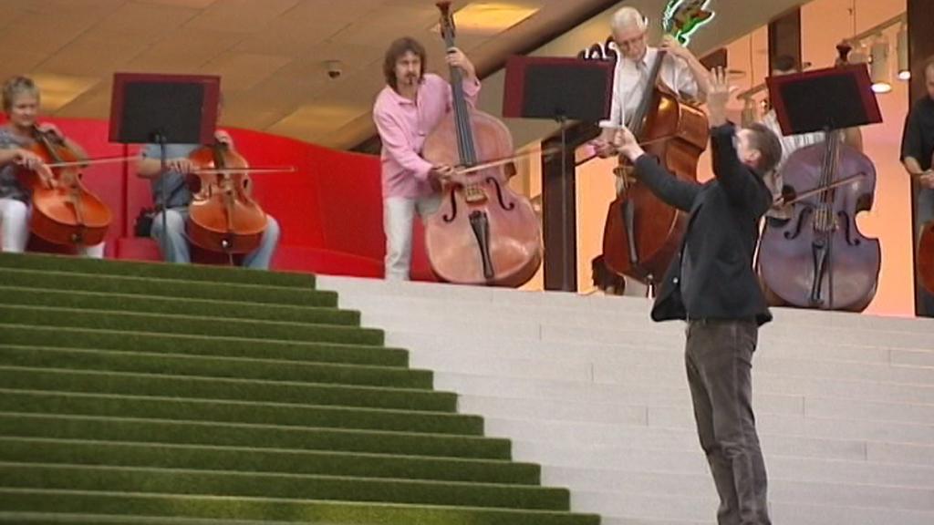 Janáčkova filharmonie Ostrava v nákupním centru