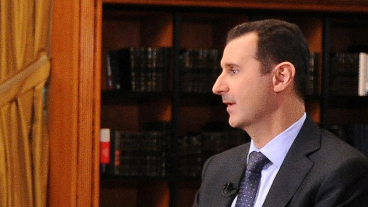 Bašár Asad v rozhovoru pro televizi Al-Manar