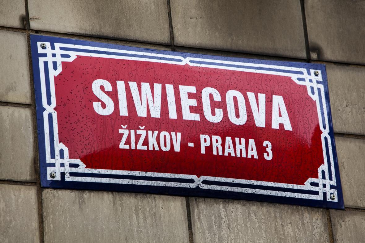 Ulice Siwiecova v Praze