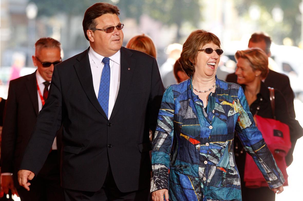 Linas Linkevicius a Catherine Ashtonová