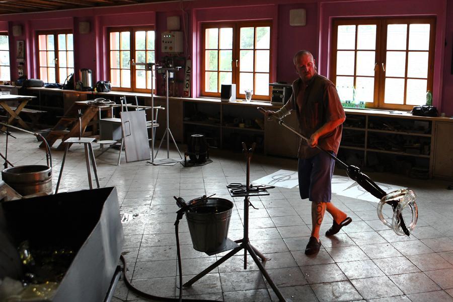 Sklárna v Lindavě u Nového Boru