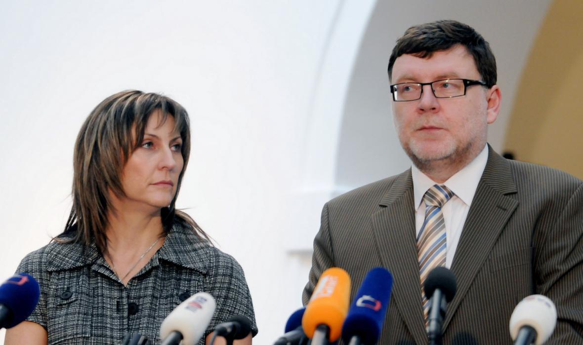 Ivana Řápková a Zbyněk Stanjura