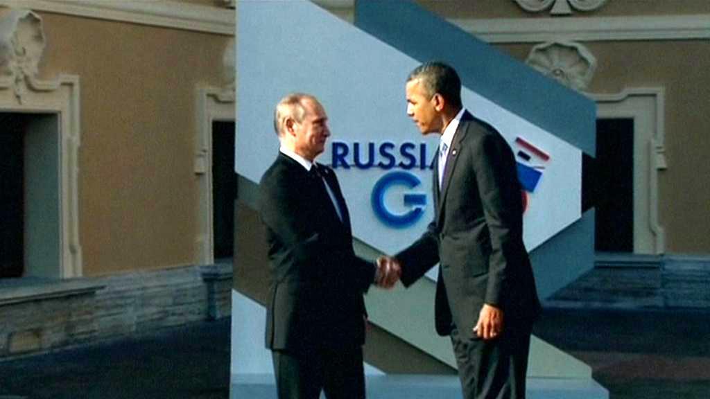 Vladimir Putin a Barack Obama na summitu G20