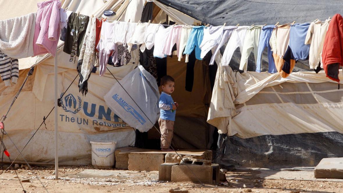 Syrský uprchlický tábor v Jordánsku