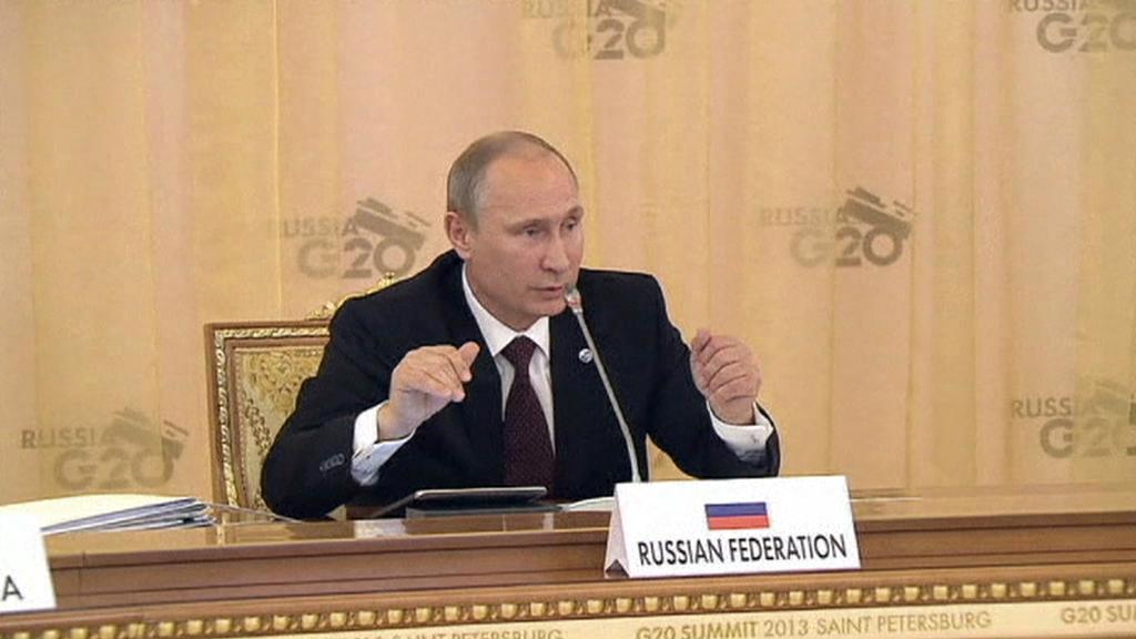Vladimir Putin na petrohradském summitu G20