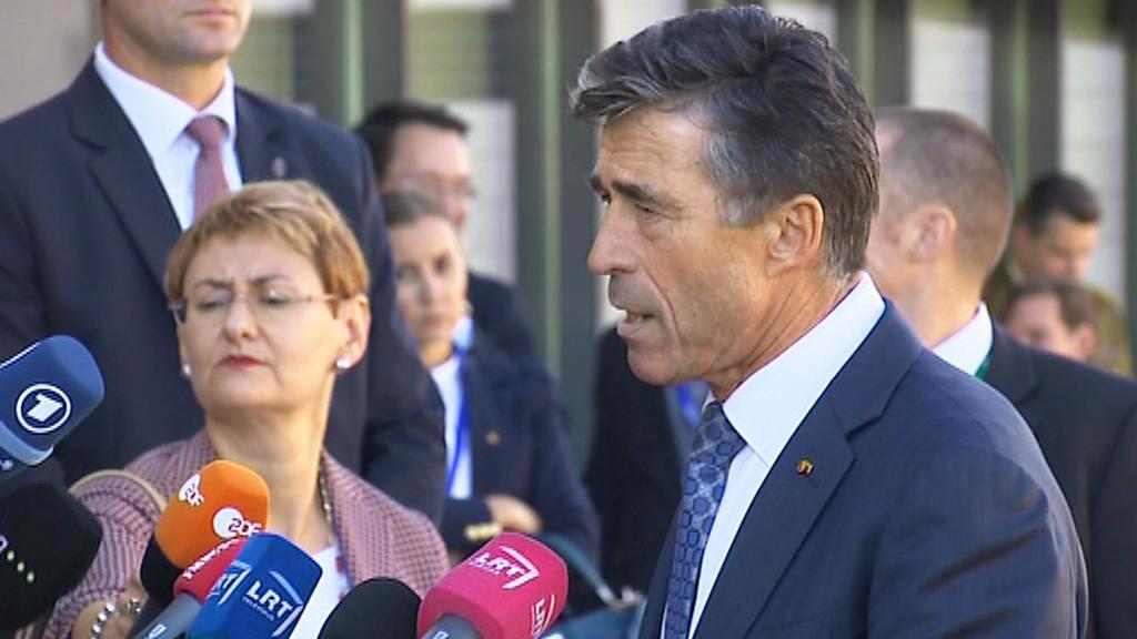 Anders Fogh Rasmussen na setkání ministrů obrany EU v Litvě