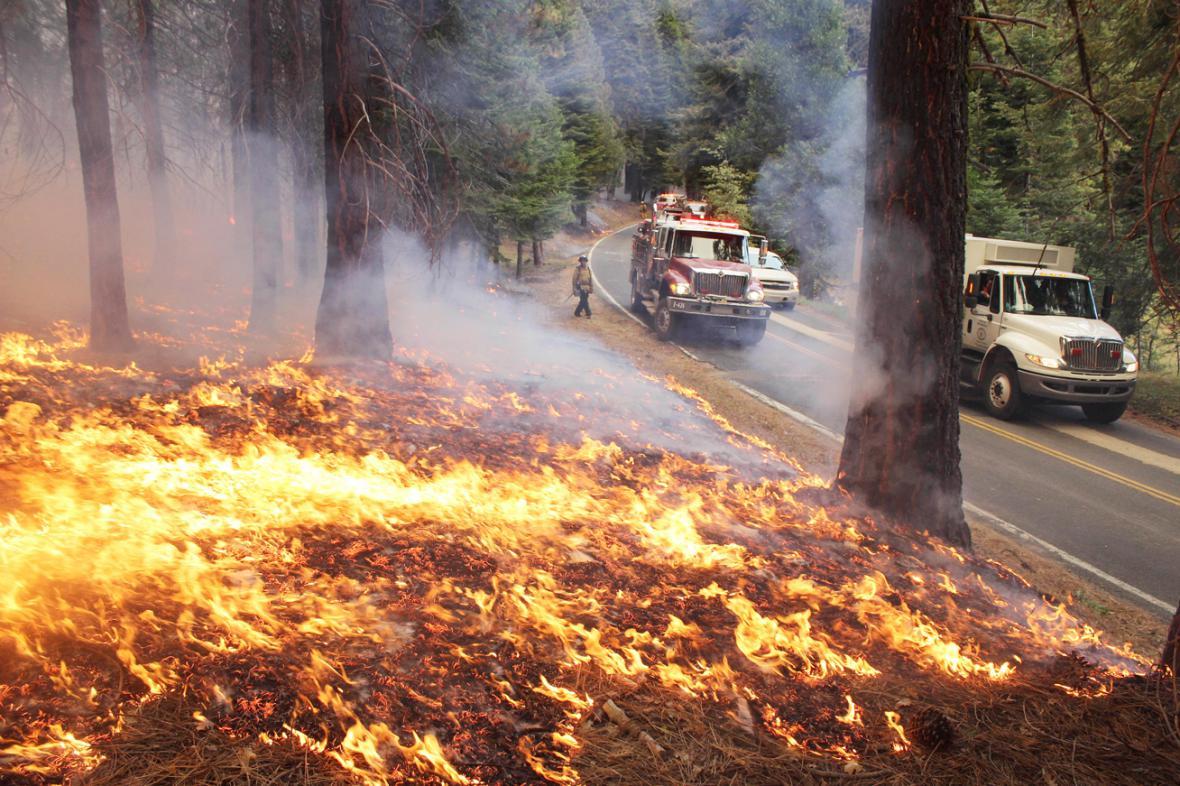 Požár v Yosemitském národním parku