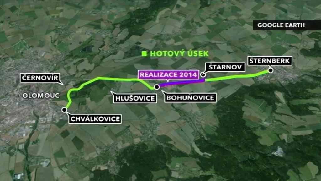 Propojení Olomouce a Šternberka