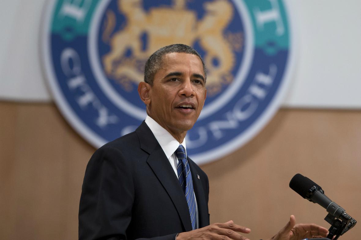 Barack Obama v Belfastu