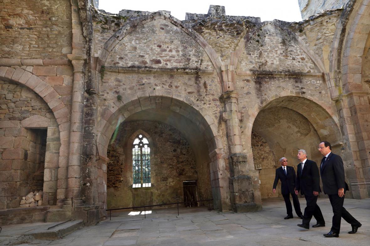 Robert Hébras, Joachim Gauck a Francois Hollande