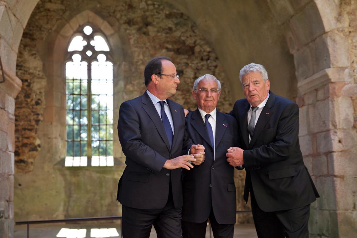 Francois Hollande, Robert Hébras a Joachim Gauck