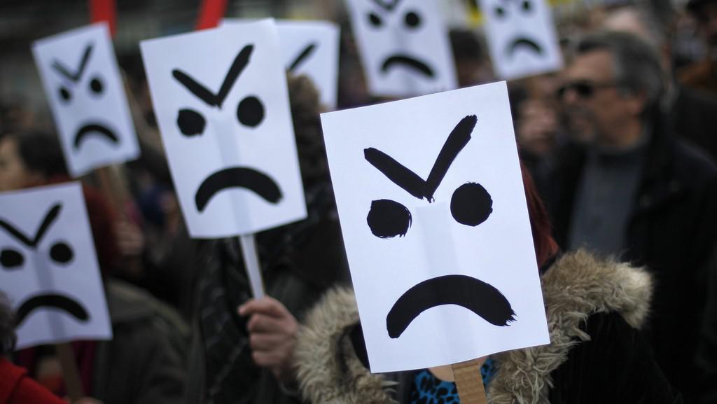 Protivládní protesty v Lisabonu