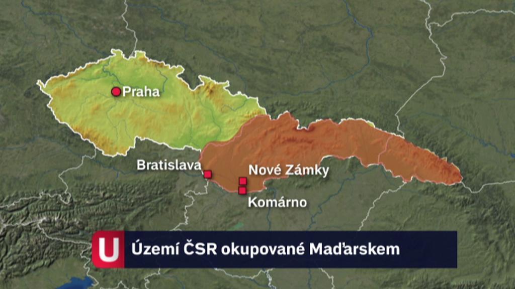 Území ČSR okupované Maďarskem