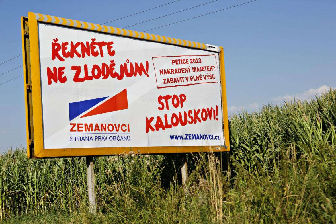 Předvolební billboard SPOZ