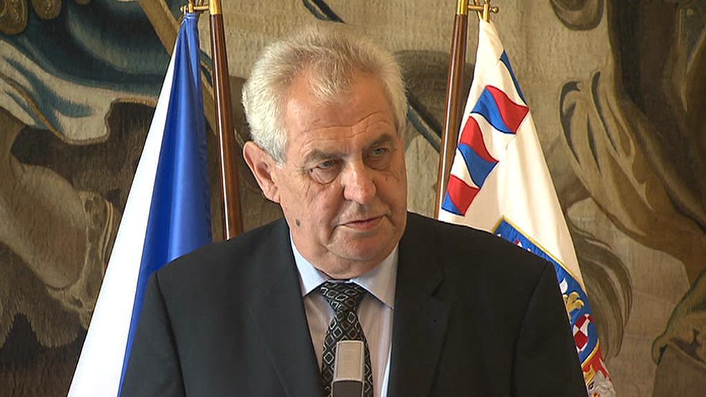 Prezident Miloš Zeman na tiskové konferenci