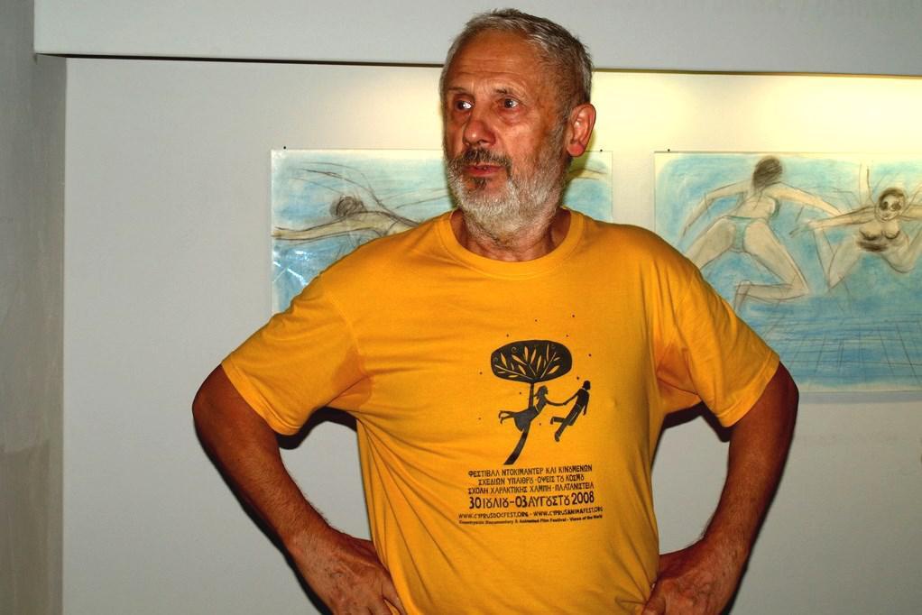 Kurt Gebauer při vernisáži výstavy