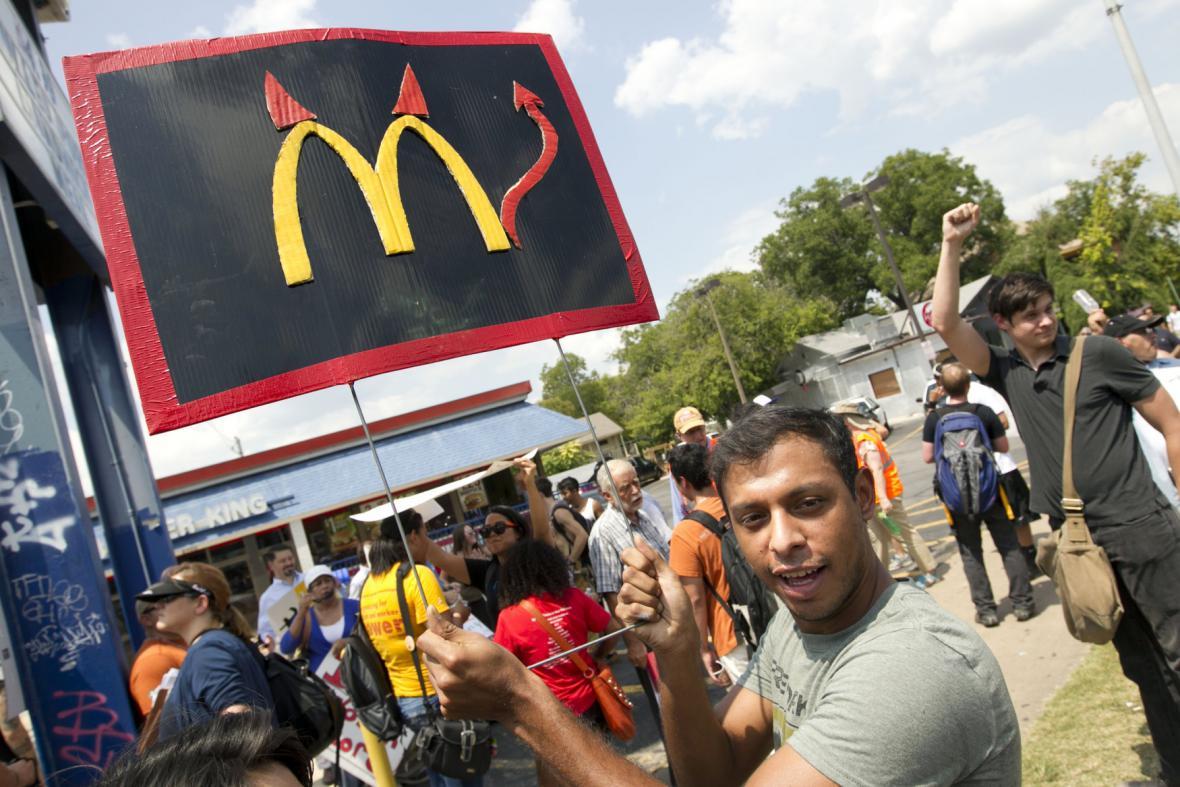 Stávka amerických fast foodů