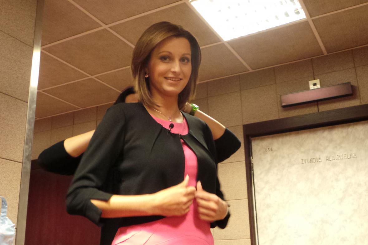 Zuzana Neuvirtová před svým prvním moderováním Událostí v regionech