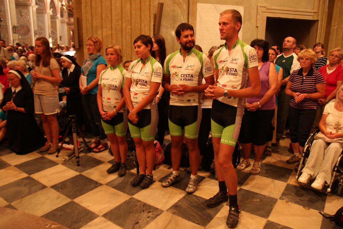 Pouť zakončili cyklisté na Velehradě