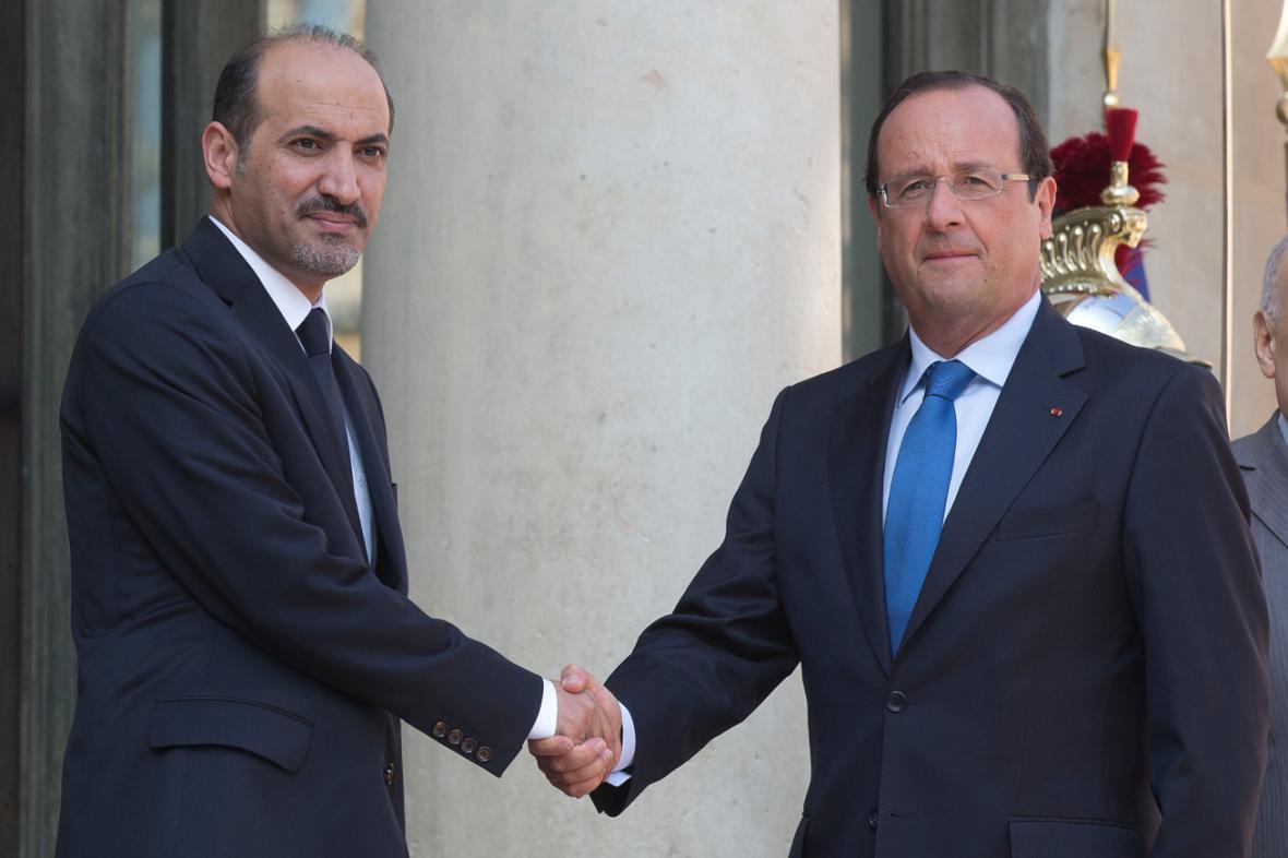 Ahmad Džarba a Francois Hollande
