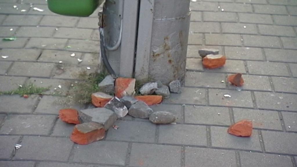 Škody po protiromské demonstraci v Ostravě