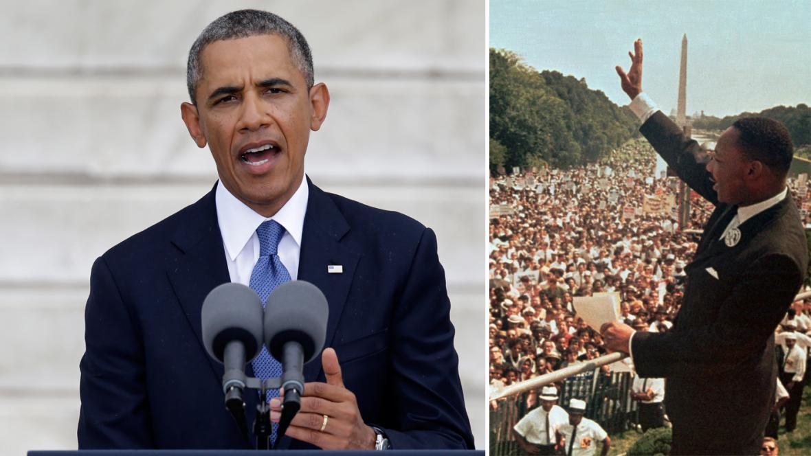 Jako před 50 lety: Barack Obama a Martin Luther King