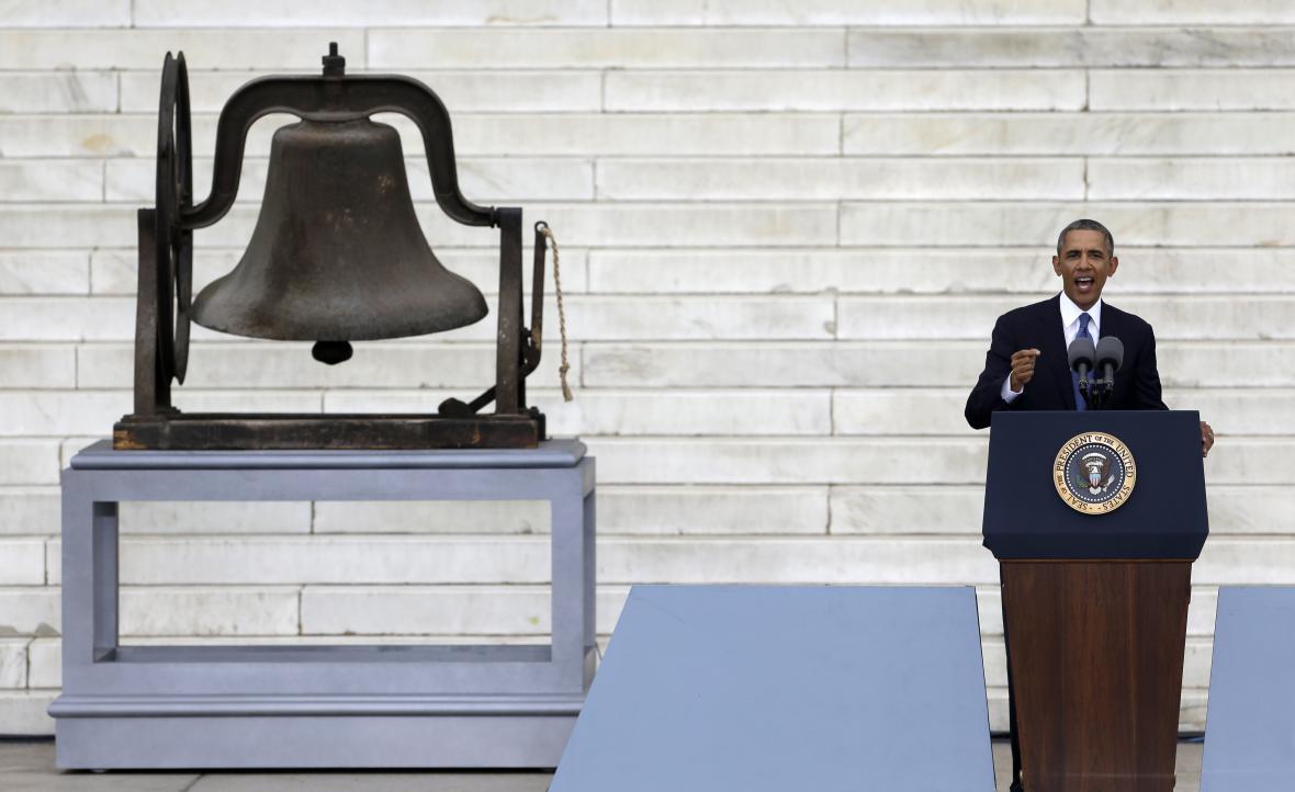 Projev Baracka Obamy u Lincolnova památníku